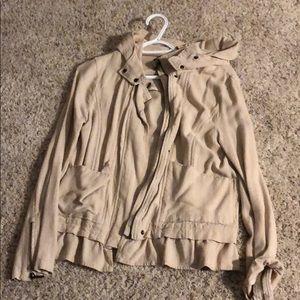 Hooded full zip dress jacket